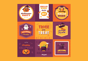 9 Halloween Badges 1
