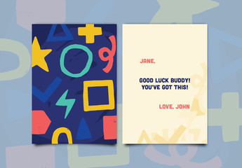 Colorful Shapes Greeting Card Layout