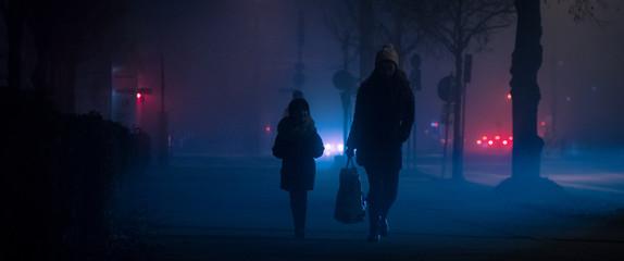 Personen im Nebel Fotomurales