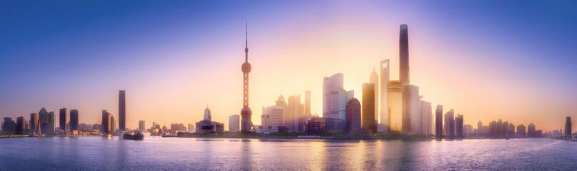 Papiers peints Shanghai Shanghai skyline cityscape