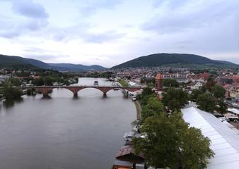 Main bei Miltenberg mit Mainbrücke