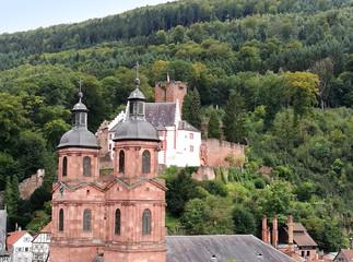 Miltenberg mit Pfarrkirche St. Jakobus und Mildenburg