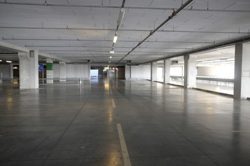 empty supermarket parking space