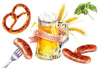 Oktoberfest food drink set