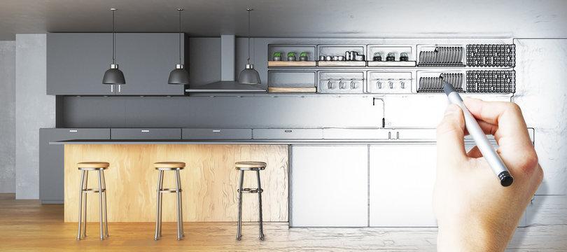 Kitchen plan concept