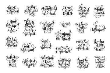set of 25 black ink hand written lettering positive quote