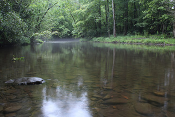 Smooth Surface River in the American Forest
