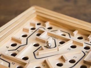 Vintage Tilt Maze Marble Game