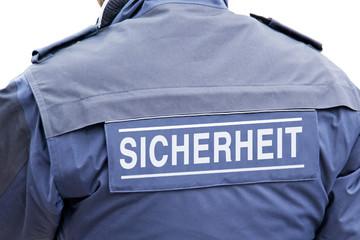 Wachpersonal, Sicherheitsmann in Uniform