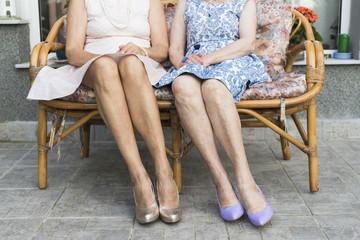 Stylish senior women details