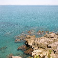 Turquoise waters off the coast of northern Sicily
