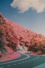 Winding Road On Skyline Drive In Shenandoah National Park Infrared