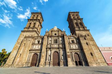 Puebla Cathedral View
