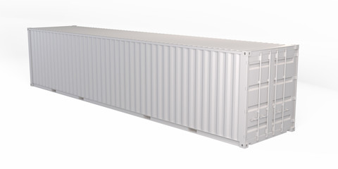 40 Feet Container 3D Rendering