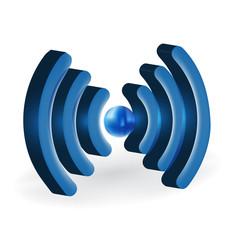 WiFi internet symbol logo