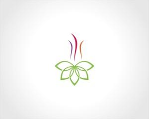 flower shape swirl logo