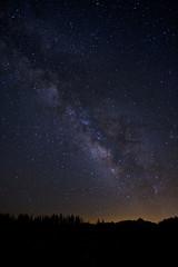 Milky way over Mt Clark, Yosemite, CA, USA