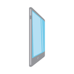 coloful  tablet over white   background vector illustration