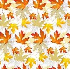 Maple leaf autumn patterns seamless