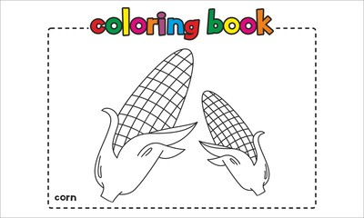 Corn Coloring Book for Kids, Children