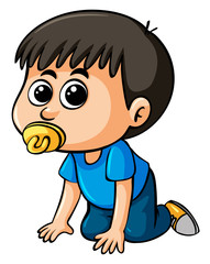 Little boy with pacifier