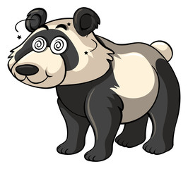 Panda with dizzy eyes