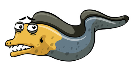 Eel with sad eyes