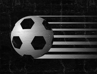 black soccer ball symbol