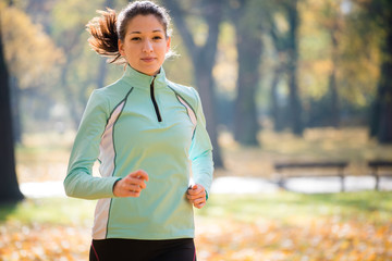 Woman jogging in nature