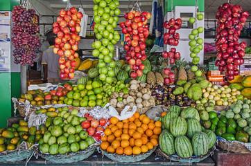 A stall with fresh fruits in Sri Lanka