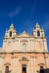 St Pauls Cathedral also known as Mdina Cathedral, Mdina, Malta.