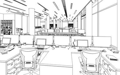 Einrichtung Im Büro (Skizze)