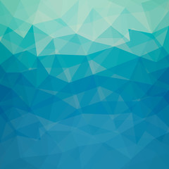 Pattern of blue geometric shapes - Vector