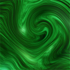 Abstract  green  textured paint swirl background.