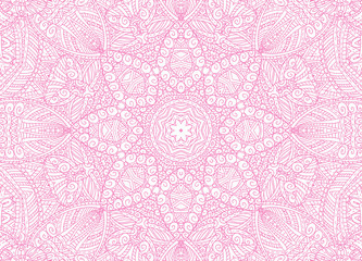 Abstract concentric outline pink pattern