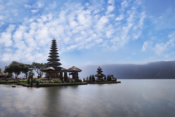 Pura Ulun Danu Brantan temple in a lake, Bali