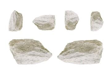 Stone on white background.
