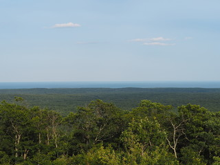 afternoon view of the Atlantic Ocean from Mount Agamenticus in Maine