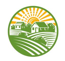village houses emblem