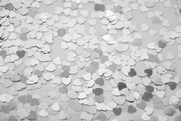 Hearts sparkles valentines day grey background black white 8