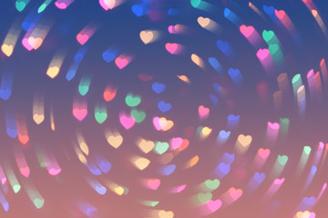 Bokeh hearts lights whirl romantic background pink blue 6