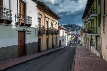 Strassen in der Kolonialen Altstadt von Quito