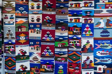 Souvenirteppich am Markt in Otavalo, Equador