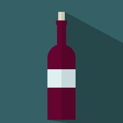 Flasche Rotwein Flat Icon