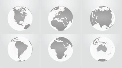 World continents. vector illustration