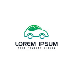 eco car logo design concept template