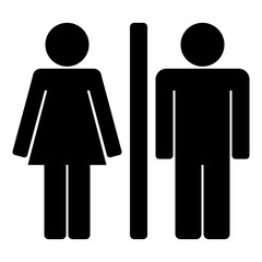 Woman and Man icon. Toilet sign. Vector illustration.