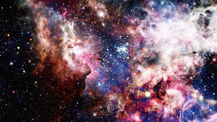 Galaxy in deep space, glowing mysterious universe. Elements of this image furnished by NASA