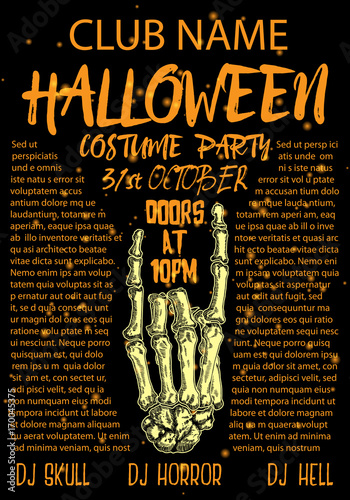 Halloween Costume Party Invitation And Greeting Card Flyer Banner - Party invitation template: halloween costume party flyer