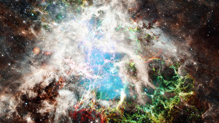 Crab Nebula and galaxies. Elements of this image furnished by NASA.